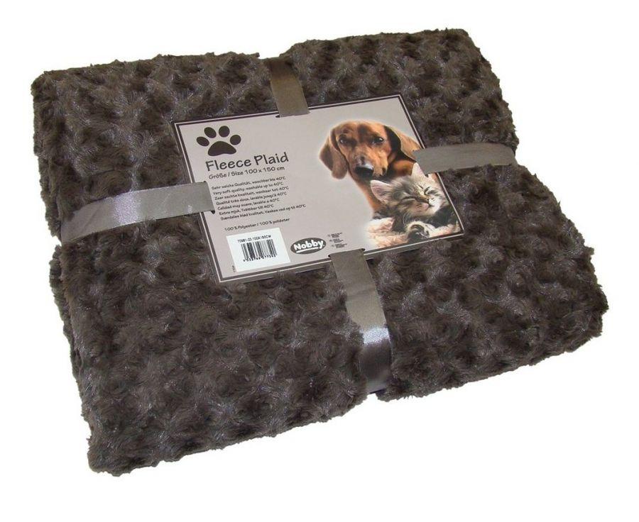 Nobby Super Soft fleecová měkká deka 100x150cm hnědá