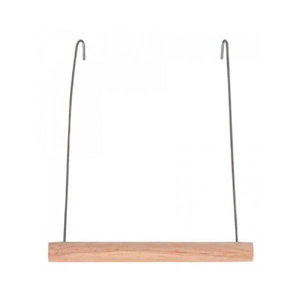 Nobby dřevěná houpačka pro papoušky 10x11cm