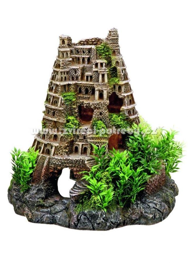 Nobby vzduchovací akvarijní dekorace Koloseum věž 23 x 24,5 x 23 cm