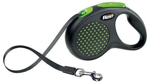 FLEXI Design M vodítko pásek 5m/25kg zelená