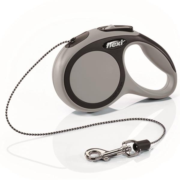 Flexi New Comfort XS vodítko lanko 3m/8kg šedá