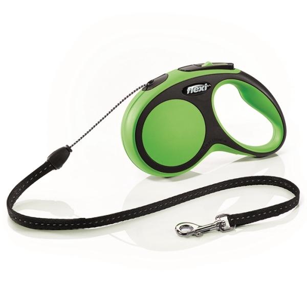 Flexi New Comfort S vodítko lanko 5m/12kg zelená