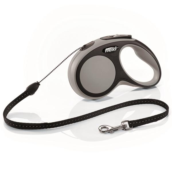 Flexi New Comfort S vodítko lanko 5m/12kg šedá
