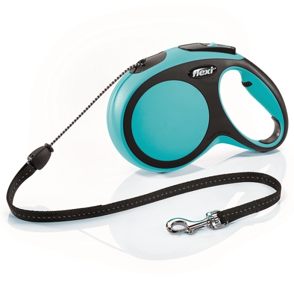 Flexi New Comfort M vodítko lanko 8m/20kg modrá