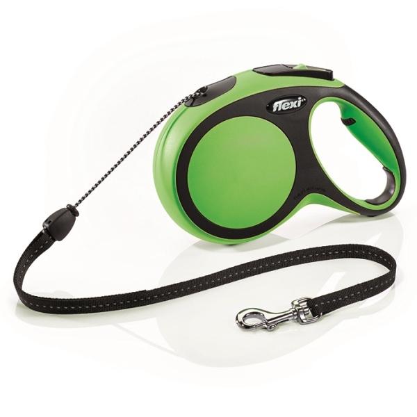 Flexi New Comfort M vodítko lanko 8m/20kg zelená