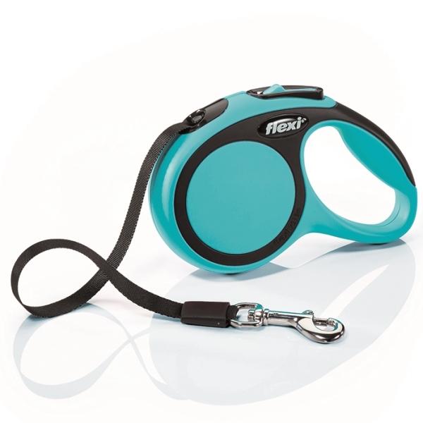 Flexi New Comfort XS vodítko pásek 3m/12kg modrá