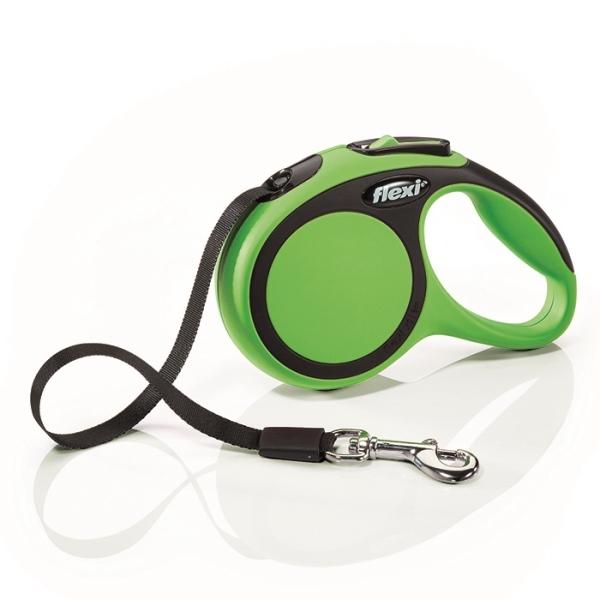 Flexi New Comfort XS vodítko pásek 3m/12kg zelená