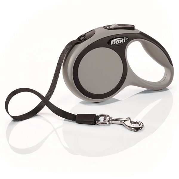 Flexi New Comfort XS vodítko pásek 3m/12kg šedá