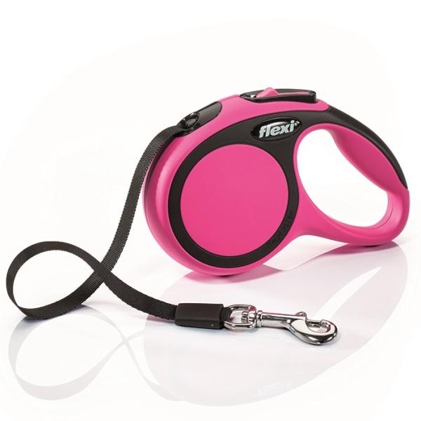 Flexi New Comfort XS vodítko pásek 3m/12kg růžová