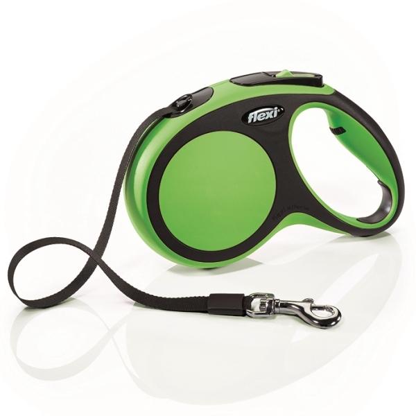 Flexi New Comfort S vodítko pásek 5m/15kg zelená