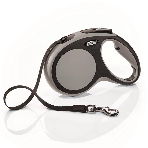 Flexi New Comfort S vodítko pásek 5m/15kg šedá
