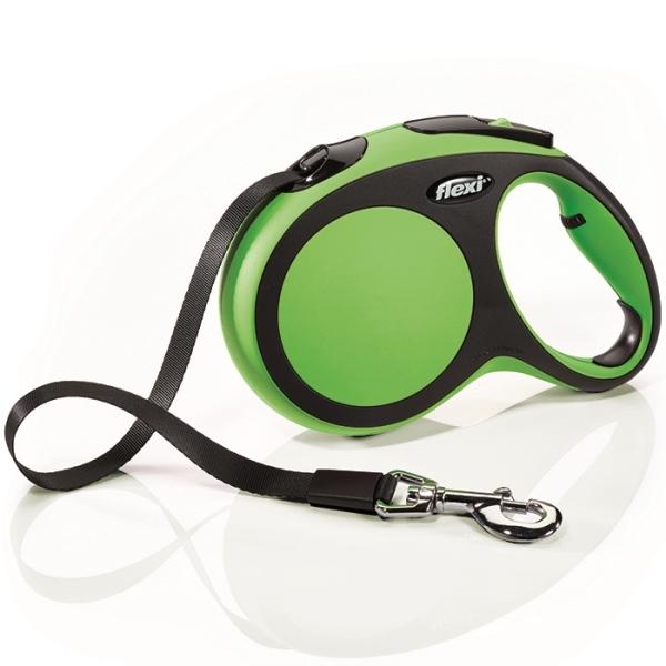 Flexi New Comfort L vodítko pásek 5m/60kg zelená