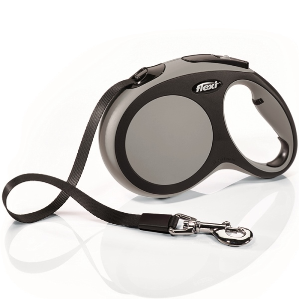 Flexi New Comfort L vodítko pásek 5m/60kg šedá