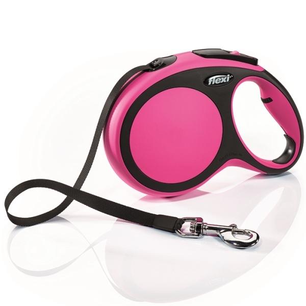Flexi New Comfort L vodítko pásek 8m/50kg růžová