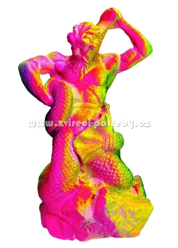 Nobby akvarijní dekorace postava řecké mytologie neon 12,7 x 10,2 x 20,2 cm