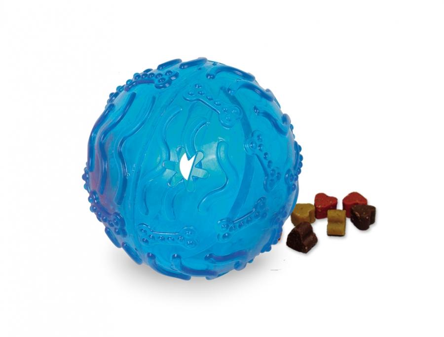 Nobby TRP Snack Ball plnící hračka velká 10cm modrá