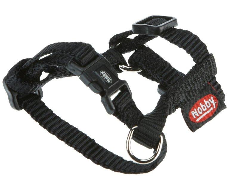 Nobby CLASSIC postroj nylon L-XL 70-90cm / 25mm černá
