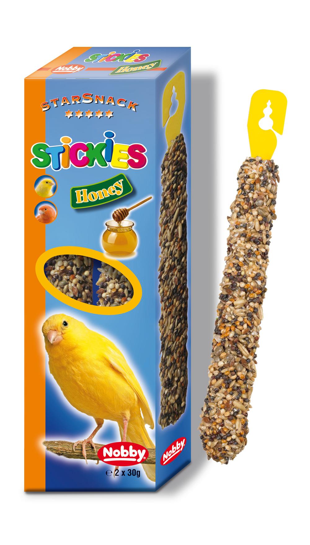 Nobby StarSnack závěsné tyčinky s medem pro kanárky 2 x 30g