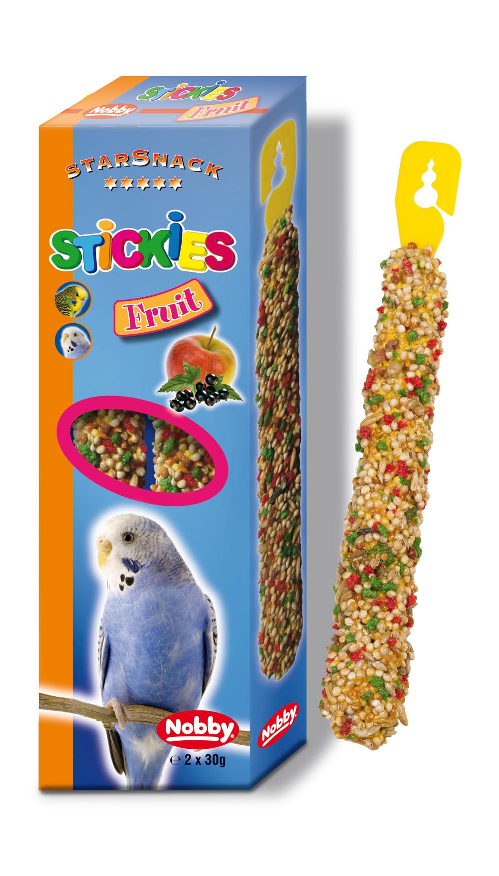 Nobby StarSnack tyčinky ovocné pro papoušky 2 x 30g