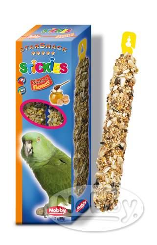 Nobby StarSnack tyčinky oříšky s medem pro exotické papoušky 2 x 90g