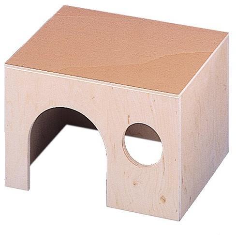 Nobby dřevěný domeček pro hlodavce malý 15 x 9 x 8,5 cm