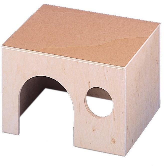 Nobby dřevěný domeček pro hlodavce velký 22 x 16,5 x 14,5 cm