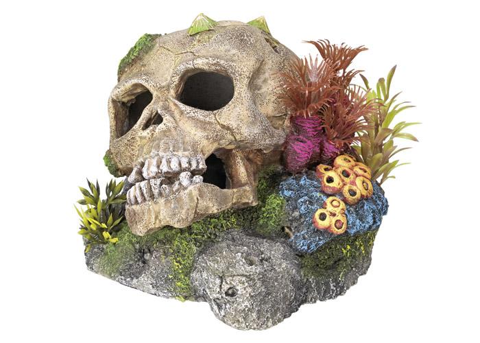 Nobby akvarijní dekorace lebka 13,5 x 13,5 x 10,5 cm