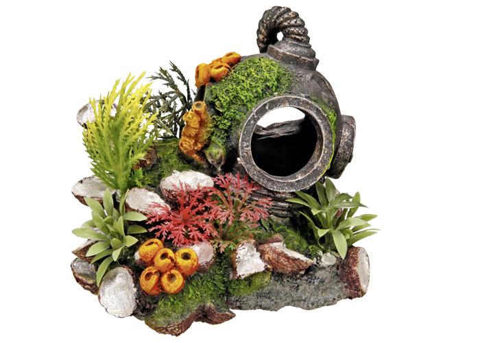 Nobby akvarijní dekorace potápěčská přilba 13,5 x 11 x 12 cm