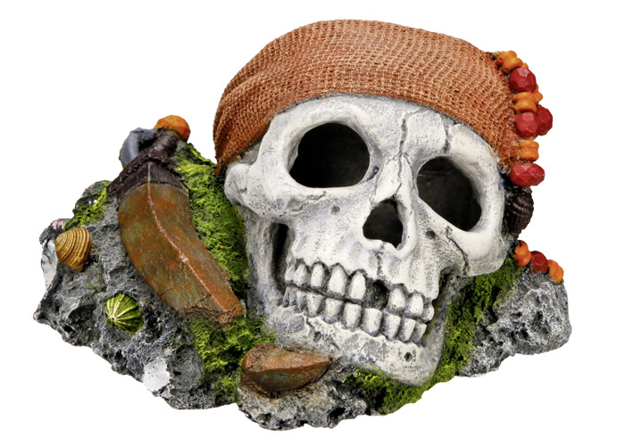 Nobby akvarijní dekorace pirátská lebka 14,5 x 12,5 x 8,5 cm