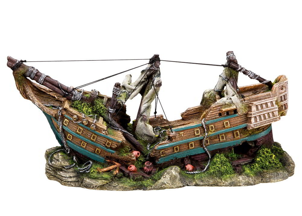Nobby dekorace velký vrak loď 44,5 x 16 x 20 cm