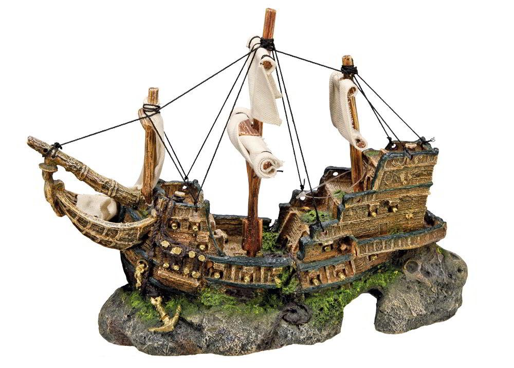 Nobby dekorace vrak loď 33 x 13 x 23 cm