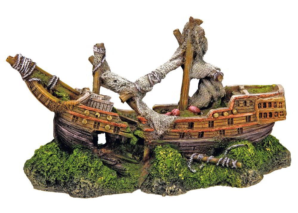 Nobby dekorace vrak loď 22 x 9,5 x 12,5 cm