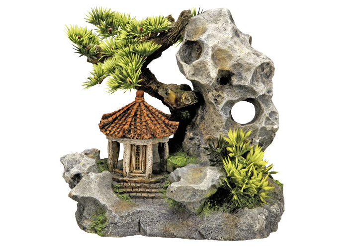 Nobby akvarijní dekorace asijský altán 19 x 13 x 17,2 cm