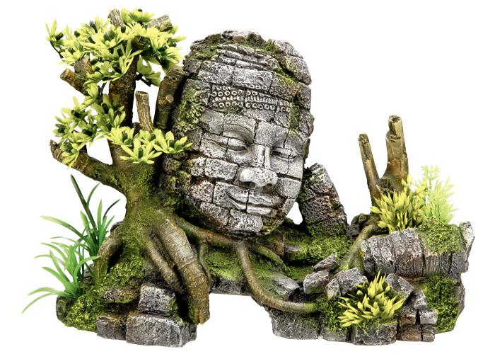 Nobby akvarijní dekorace socha obličej 25 x 12,5 x 18 cm