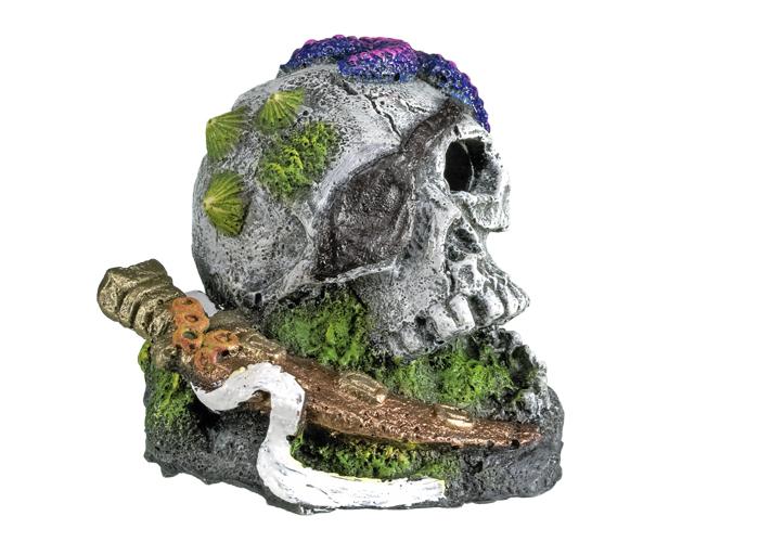 Nobby akvarijní dekorace pirátská lebka 7,5 x 7,7 x 6,7 cm