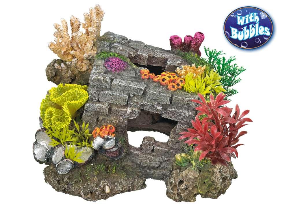 Nobby akvarijní dekorace cihlová krychle se vzduchováním 20x18,5x15,5cm