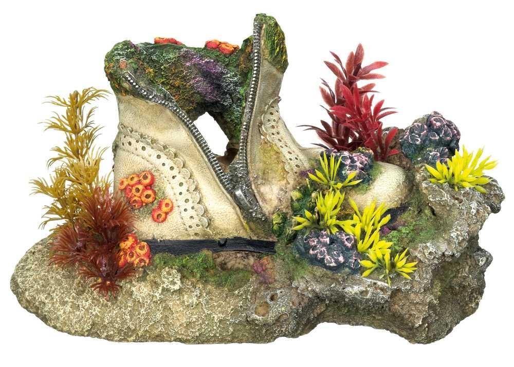 Nobby akvarijní dekorace bota s korály 23,5x13,5x13cm