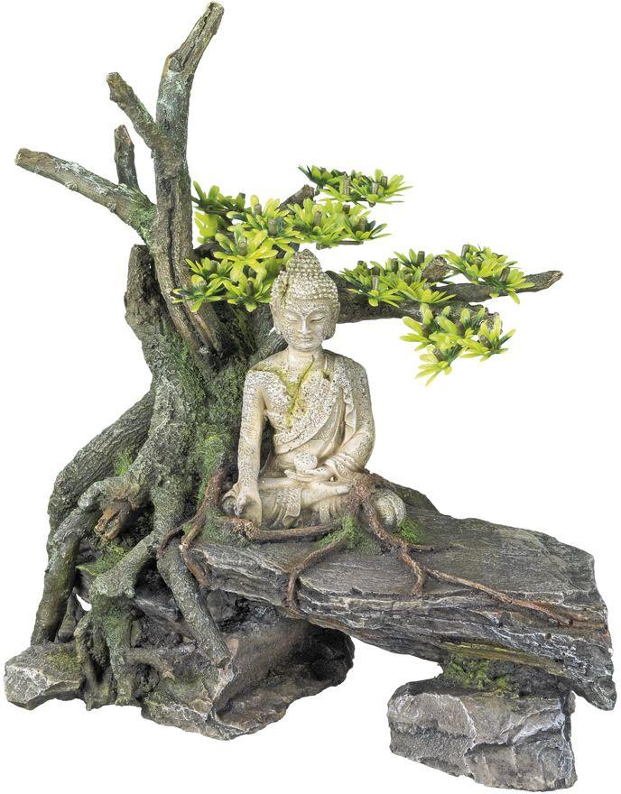 Nobby akvarijní dekorace Buddha se stromem 26,7 x 15 x 27,3 cm
