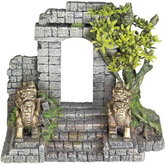 Nobby akvarijní dekorace brána s drakem 19 x 9,5 x 17 cm