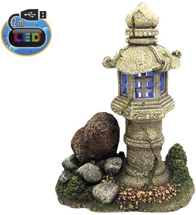 Nobby akvarijní dekorace lampa s LED 19 x 12,5 x 24,3 cm
