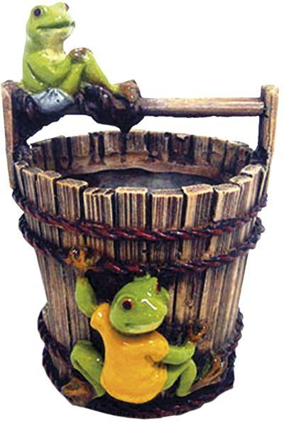 Nobby akvarijní dekorace vědro s žáby 9,5 x 10,2 x 13,7 cm