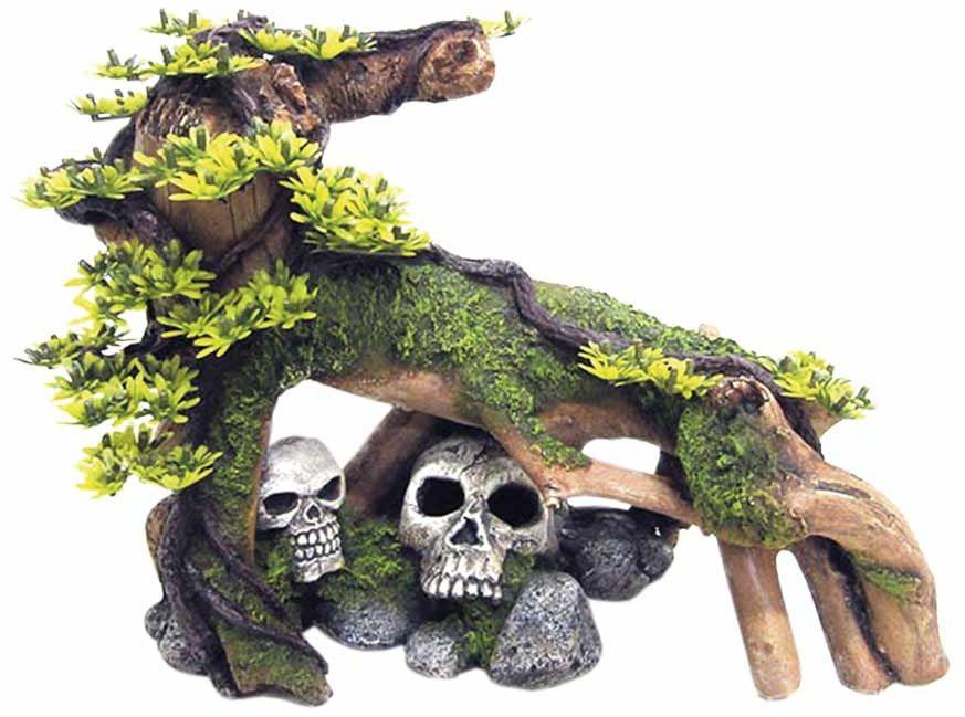 Nobby akvarijní dekorace kořen s lebkami 34 x 22 x 25,5 cm