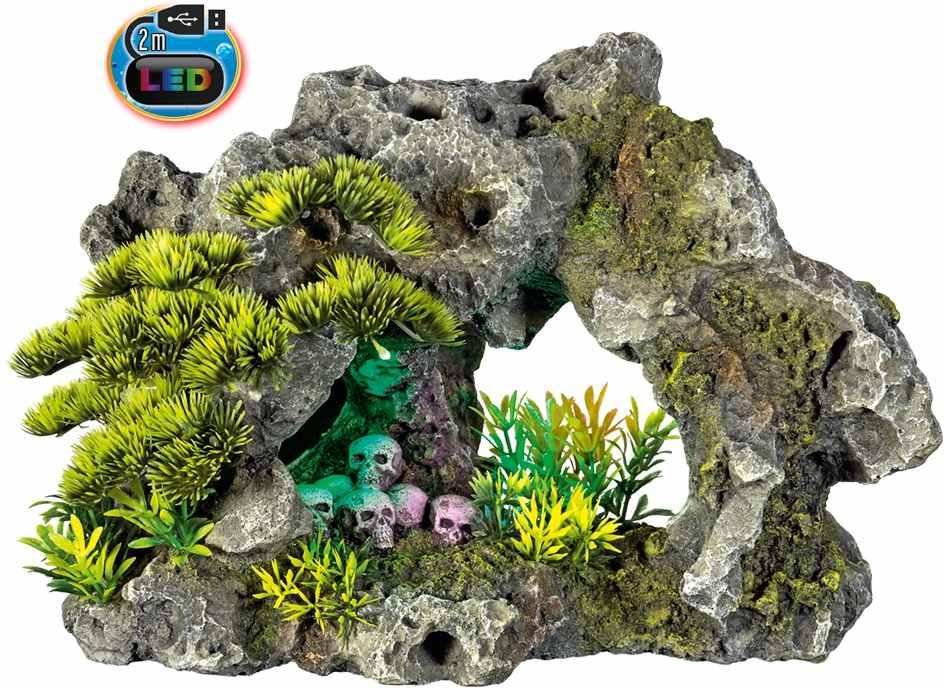 Nobby akvarijní dekorace skála s LED 30,2 x 18,5 x 20,8 cm