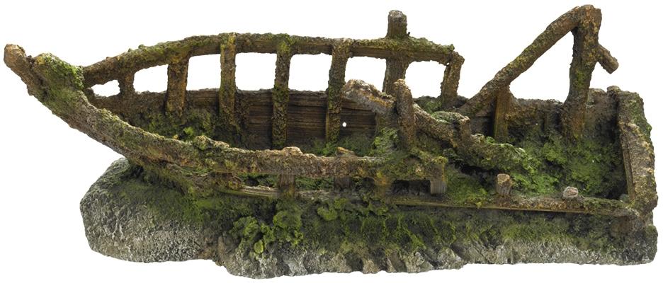 Nobby akvarijní dekorace Rozbitá loď 32,8 x 12,5 x 12,2 cm