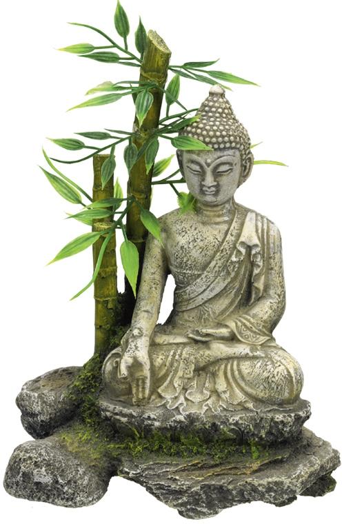 Nobby akvarijní dekorace Zenová socha s bambusem 12 x 9 x 16 cm