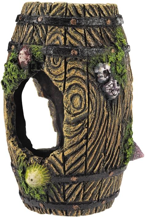 Nobby akvarijní dekorace Sud s mušlemi 10,5 x 10 x 15,5 cm