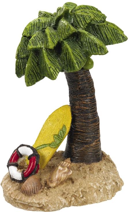 Nobby akvarijní dekorace Palma a surfovací prkno 9,5 x 8 x 13,5 cm