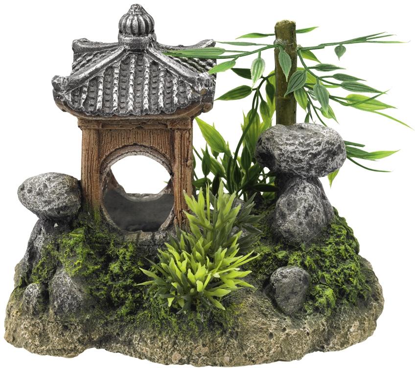 Nobby akvarijní dekorace Asijský chrám 15,5 x 10,5 x 12,5 cm