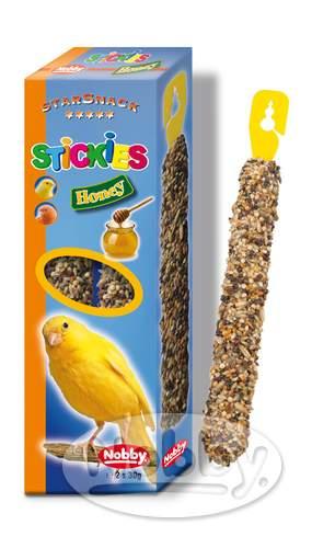 Nobby StarSnack tyčinky s medem pro kanárky 2 x 30g
