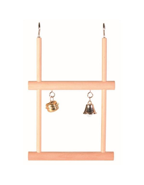 Nobby dvojitá houpačka se zvonečkem 12,5 x 20,5 cm